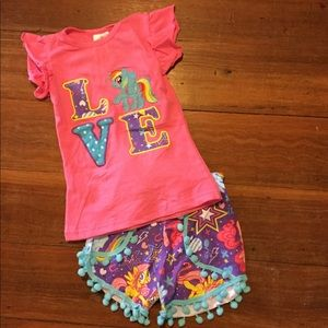 Other - NWT Kids Love My Little Pony 2pc outfit